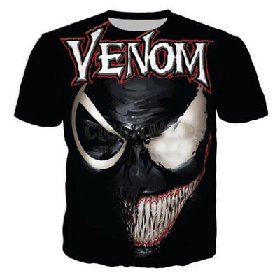 New Movie Venom Graphic Print 3D T-Shirt Women Men Casual Short Sleeve Tops Tee