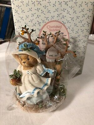 Cherished Teddies Edna The Leaves Of Change Bring Back Memories Figurine 2001