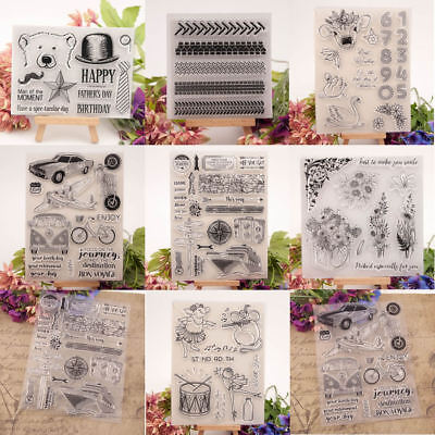 Transparent Silicone Clear Stamp Cling Seal DIY Scrapbook Album Embossing Craft