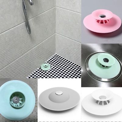 Silicone Bath Tub Sink Floor Drain Plug Kitchen Water Laundry Stopper Tool Cap