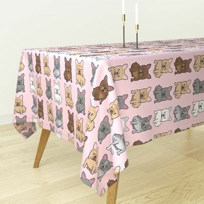 Tablecloth Frenchie French Bulldog Frenchy Dog Puppy Cute Cotton Sateen