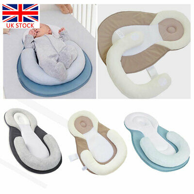 Newborn Baby Anti-Roll Head Cushion Pillow Prevent Flat Sleep Nest Pod 3 Colors
