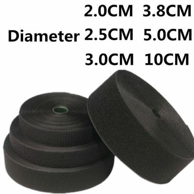 20MM-50MM Black & White Tape Hook and Loop Sticky Backed Fastener