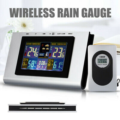 Digital Wireless In/Outdoor Weather Station Calendar Clock Thermometer Humidity