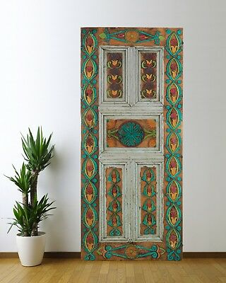 Antique Door Carved,Vintage Solid Wood Panel Decorative Handmade (72'')