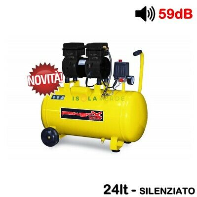 Ph024S Compressore 24 25 Lt Silenziato A Secco Italy 8 Bar 1 Hp Italy 2 Manometr