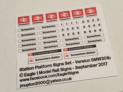 Earlier /'Swoosh/' Version OO Scale South West Trains Station Signs Set SWT