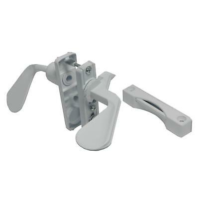 White Inswing Latch Set Screen Door Storm Security Latches Lockable Kit 1 3/4