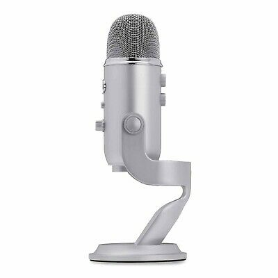BLUE Microphones Silver Yeti 3 Capsule USB Microphone with Stylish Stand