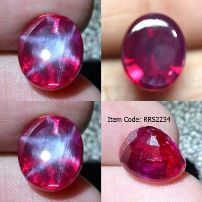 Oval 12x10 MM Synthetic Lab Created Ruby Star Sapphire Corundum Mixed Cut