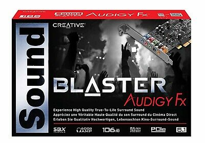 Creative Soundcard Audigy FX Control Panel SoundBlaster with SBX Pro Studio