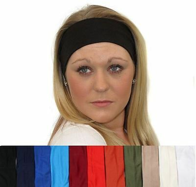 7cm Wide Plain Stretch Headband Sports Dance Gym Bandeau Kylie Hair Band