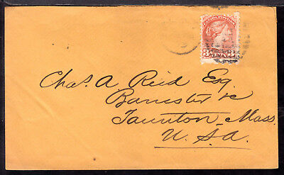 """CANADA LACELLE-462 """"H"""" DUPLEX on 1875 SQ 3c HALIFAX COVER"""