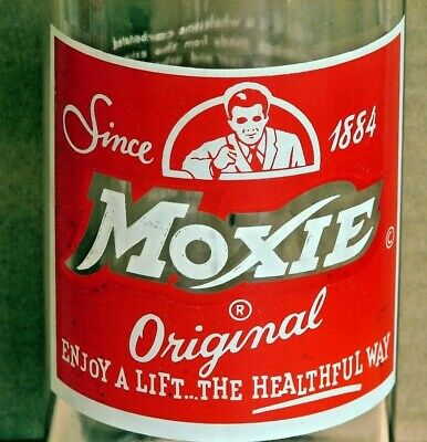 Moxie; Needham Heights, MA; 26oz ACL soda pop bottle