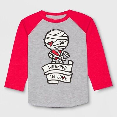 LITTLE MONSTERS Toddler Boys' Wrapped In Love Mummy L/S Shirt - Valentine's Day