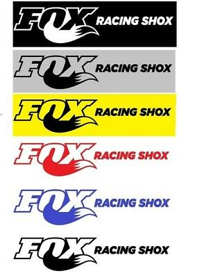 "original 3/"" x 1.5/"" Fox Racing sticker decal genuine NEW Black"