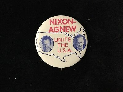 Nixon-Agnew Unite The Usa 1 1/4 Inch Button Box 9