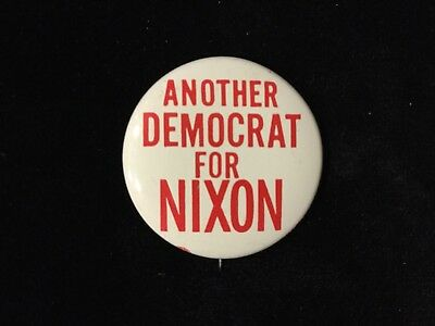 Another Democrat For Nixon 1 1/4 Inch Button Box 9