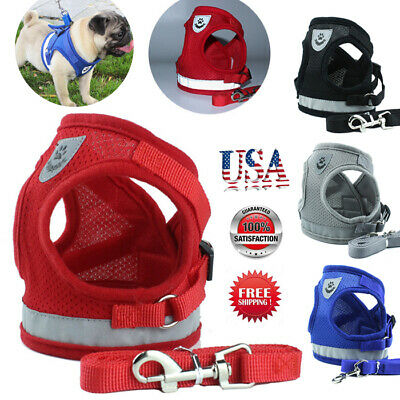 Pet Control Harness for Dog & Cat Soft Mesh Walk Collar Safety Strap Vest NEW