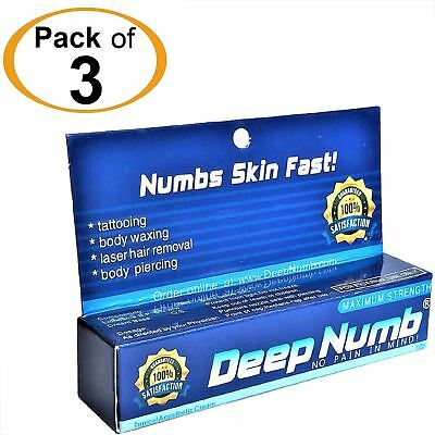 3pcs X 10g DEEP NUMB Numbing Cream AnestheticTattoo Piercing Waxing Laser Dr