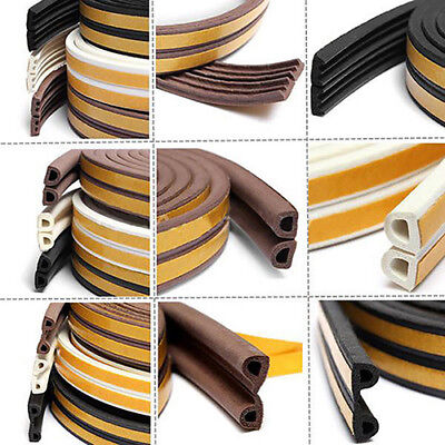 UK_ 5M Door Window Foam Sticky Tape Weather Strip Seal Noise Insulation Excluder