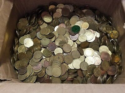 5 Pound Token Lot - Brass, Copper, Zinc  - Arcade, Amusement, Parking, Carwash