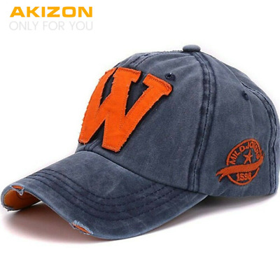 Women's Adjustable Baseball Cap Sport Fashion Style Letter «W» Cotton Hats