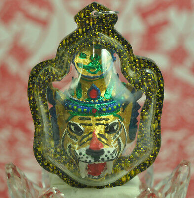 Lersri Hermit Tiger GOD Face LP KALONG Phor kae CHARM WEALT Luck Amulet talisman