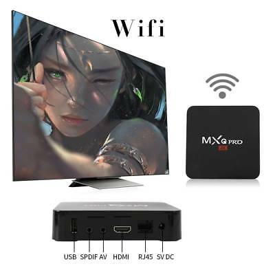 Smart TV Box + K-O DI17.6 New MXQ Pro 4K Ultra HD 3D 64Bit Android 7.1 Quad Core