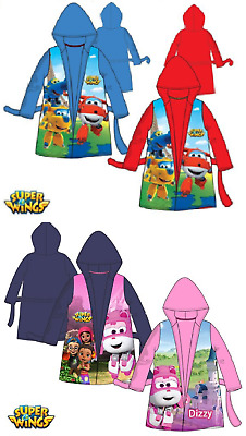 Boys Girls Kids Super Wing Fleece Bath Robe Children Dressing Gown Age 3-6 Years