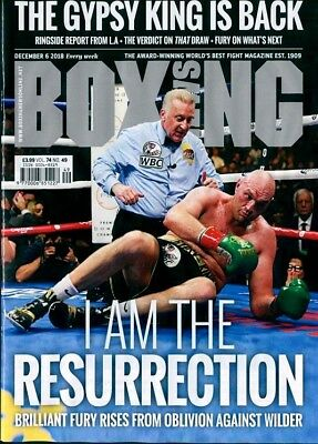 BOXING NEWS MAGAZINE 6th DECEMBER 2018 ~ NEW ~