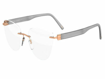 Silhouette Authentic Eyeglasses INSPIRE rose gold opal grey 5506/DL-3635-53MM
