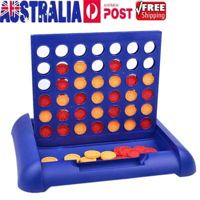 AU Universal Connect 4 In a Row Classic Board Toy Family Travel Educational Game