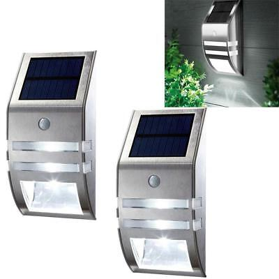 4 Pack Solar Powered LED Wall Light Motion Sensor Security Lamp Outside LN