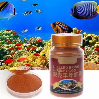 New Aquarium Nutrition Brine Shrimp Shelled Eggs Healthy Fish Food Feeding