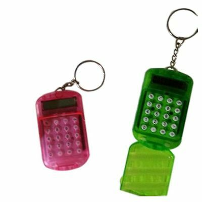 """1pc Newest Battery Powered 8 Digits LCD Mini Calculator with Key buckle Dia 0.9"""""""
