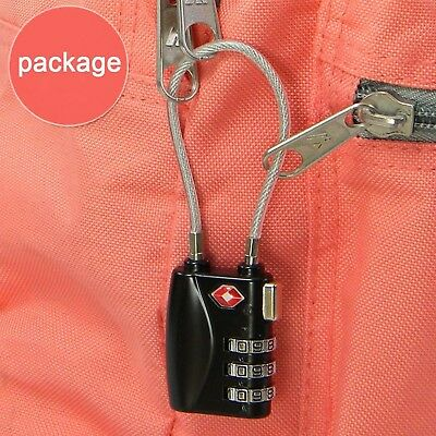 TSA Resettable 3 Digit Combination Travel Luggage Suit Code Lock Padlock