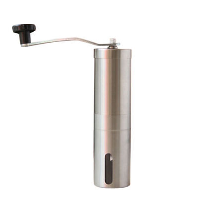 Kicthen Manual Coffee Grinder Conical Burr Mill Brushed Stainless Steel Hand US