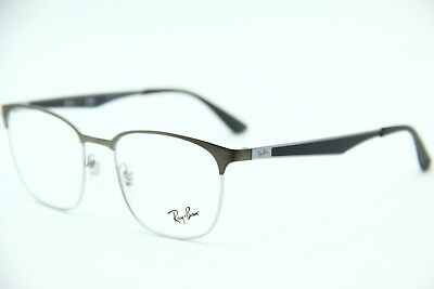 7dde8a4b656 NEW RAY BAN RB6356 2861 MATTE BLACK  SILVER EYEGLASSES GLASSES 52-18 ...