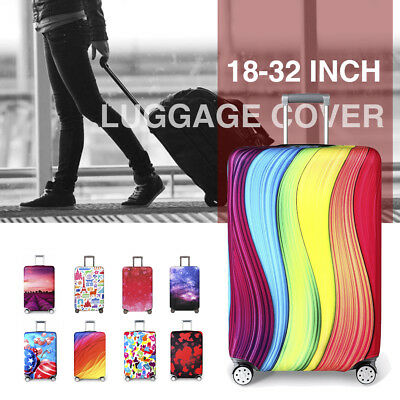 Travel Elastic Luggage Suitcase Cover Protective Bag Dustproof Protector 18-32""
