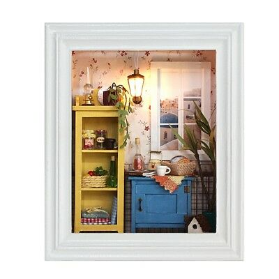 Dollhouse Miniature DIY Kit Wood Toy Doll House Cottage Photo Frame Design Gifts