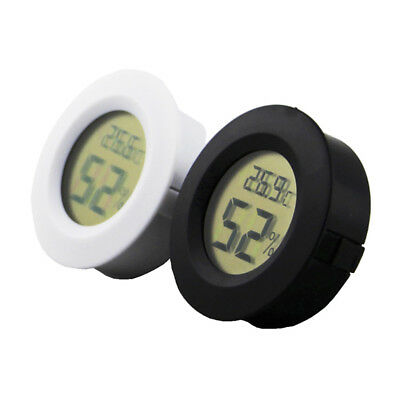 Digital Thermometer Humidity Meter Hygrometer Round For Car Indoor Home