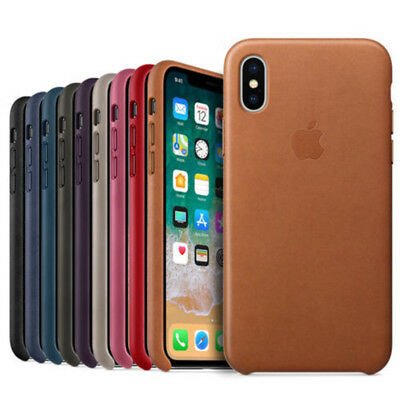 Original Leather Case For Apple iPhone 6 6S 7 8 + XS Max XR Genuine PU OEM Cover