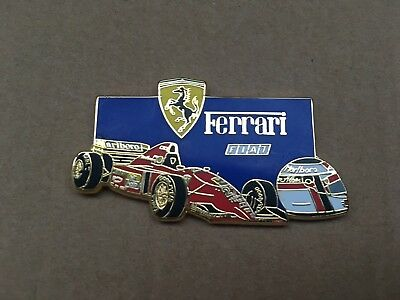 Pin's Ferrari Jean Alesi bleu - Finition Or