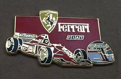 Pin's Ferrari Jean Alesi Red - Finition Or