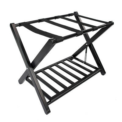 2 Tier Travel Folding Luggage Suitcase Rack Stand Home Hotel Room US