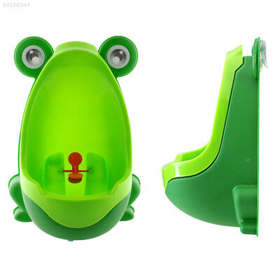 6A67 Frog-shaped Potty Toilet Kids Urinal Baby Standing Pee Trainer bat Blue
