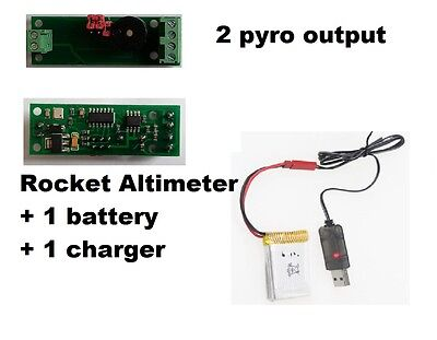 Mini AltiDuo-SMT model rocket altimeter+ battery and charger