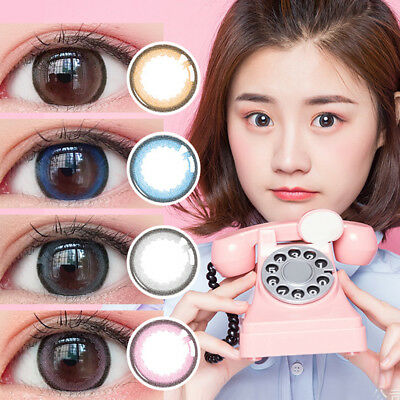 1Pcs Round Big Eyes Makeup Cosmetic Contact Lense Women Party Cosplay Mejor