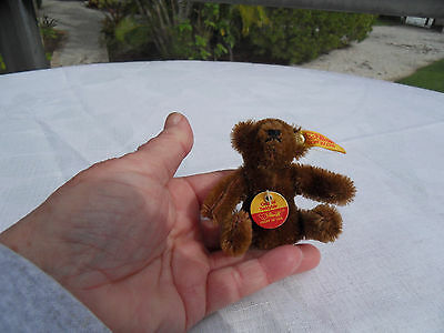 Steiff teddy bear miniature bear mohair IDs stuffed animal made in Germany 1389